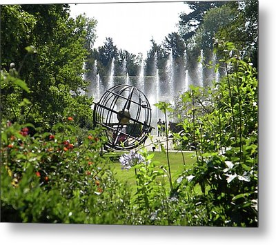 Metal Print featuring the photograph Versailles Garden by Manuela Constantin