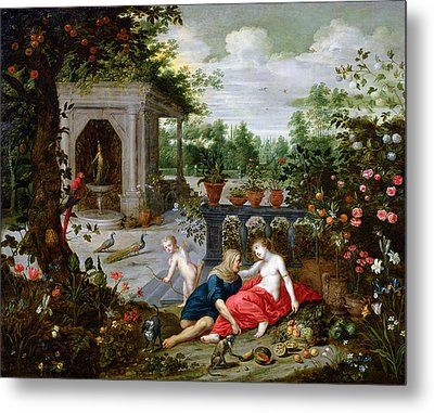 Vertumnus And Pomona Metal Print by Hendrik van the Elder Balen