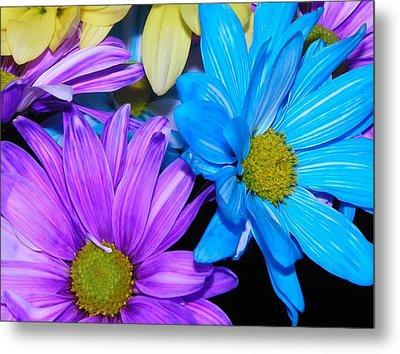 Very Colorful Flowers Metal Print
