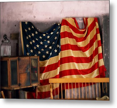 Very Old Glory Metal Print by Prairie Pics Photography