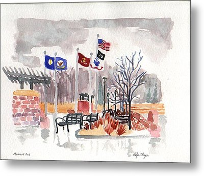 Veteran's Memorial Park Metal Print by Rodger Ellingson