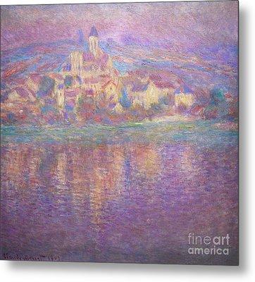 Vetheuil, Sunset, Soleil Couchant, By Claude Monet, Circa 1900,  Metal Print by Peter Barritt