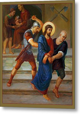 Metal Print featuring the painting Via Dolorosa - Stations Of The Cross - 1 by Svitozar Nenyuk