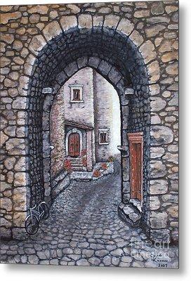 Via In Santo Stefano Metal Print by Judy Kirouac