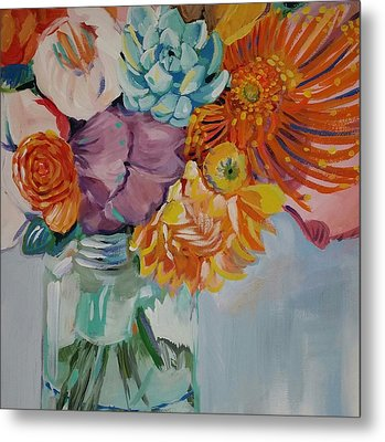 Vibrant  Metal Print by Anne Seay