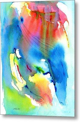Vibrant Colorful Abstract Watercolor Painting Metal Print by Carlin Blahnik