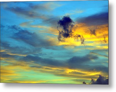 Vibrant Evening Sky Metal Print by Rose  Hill