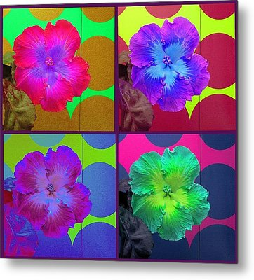 Vibrant Flower Series 2 Metal Print by Jen White