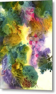 Vibrant Grapes Metal Print by Gladys Folkers