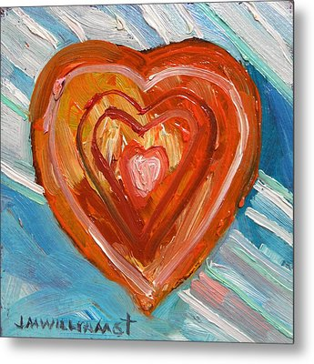 Metal Print featuring the painting Vibrant Heart by John Williams