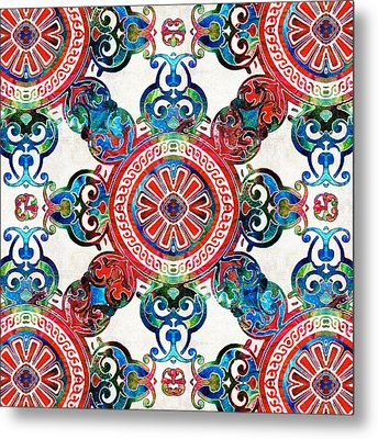 Vibrant Pattern Art - Color Fusion Design 4 By Sharon Cummings Metal Print by Sharon Cummings