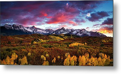 Metal Print featuring the photograph Vibrant Rockies Sunset by Andrew Soundarajan