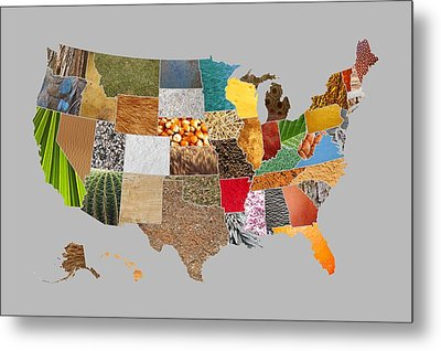 Vibrant Textures Of The United States Metal Print by Design Turnpike
