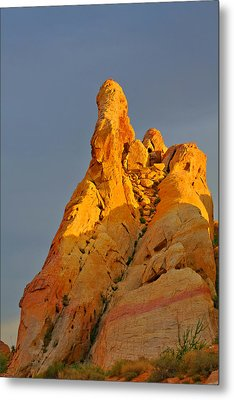Vibrant Valley Of Fire Metal Print by Christine Till