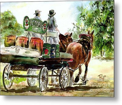 Victoria Bitter, Working Clydesdales. Metal Print