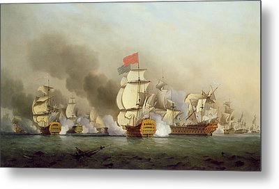Vice Admiral Sir George Anson's Metal Print by Samuel Scott