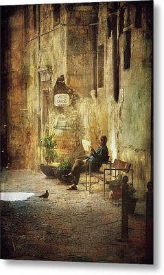 Vicolo Chiuso   Closed Alley Metal Print