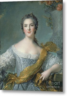 Victoire De France At Fontevrault Metal Print by Jean Marc Nattier