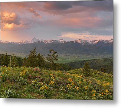 Victor Idaho Sunset Metal Print by Leland D Howard