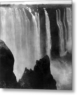 Victoria Falls - C 1911 Metal Print by International  Images