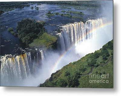Victoria Falls Rainbow Metal Print