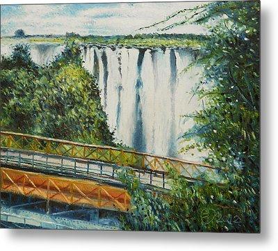 Victoria Falls Zimbabwe 2012 Metal Print by Enver Larney