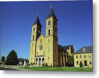Metal Print featuring the photograph Victoria, Kansas - Cathedral Of The Plains 6 by Frank Romeo
