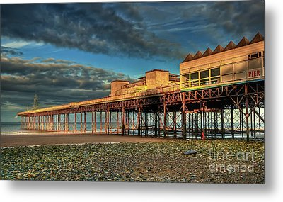 Metal Print featuring the photograph Victoria Pier 1899 by Adrian Evans