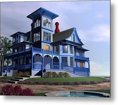 Victorian Cape May Metal Print