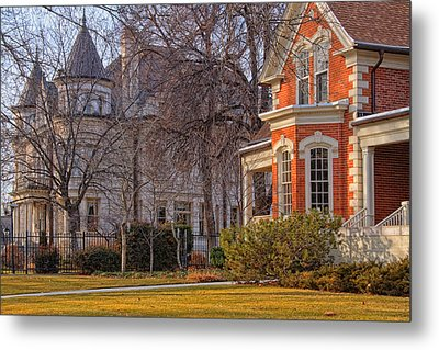Victorian Era Houses Metal Print by Utah Images