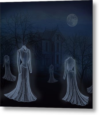 Victorian Haunting Metal Print by Little Bunny Sunshine