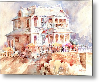 Victorian House Metal Print by Joan  Jones