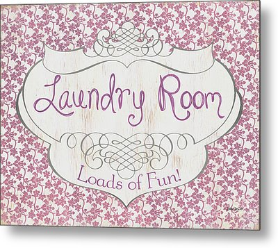 Metal Print featuring the painting Victorian Laundry Room by Debbie DeWitt