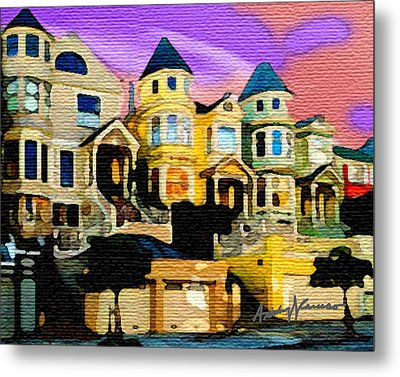 Victorian Row Metal Print by Anthony Caruso