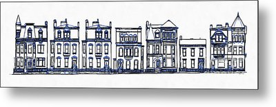 Victorian Row Houses Metal Print