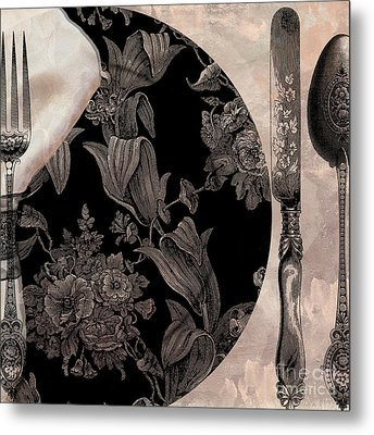 Victorian Table Metal Print by Mindy Sommers