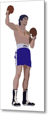 Victorious Boxer Metal Print by Robert Bissett