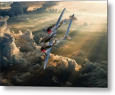 Victory Roll Metal Print by Peter Chilelli