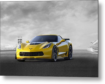 Metal Print featuring the digital art Victory Yellow  by Peter Chilelli