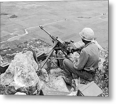 Vietnam Machine Gunner Metal Print