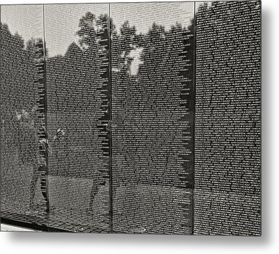 Vietnam Memorial # 2 Metal Print by Allen Beatty