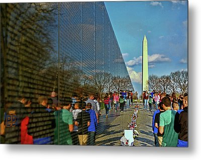 Vietnam Memorial # 5 Metal Print by Allen Beatty