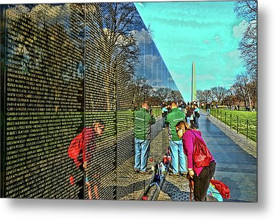 Vietnam Memorial # 6 Metal Print by Allen Beatty