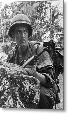 Vietnam Soldier Metal Print by Underwood Archives