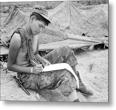 Vietnam War. Private First Class Joseph Metal Print by Everett