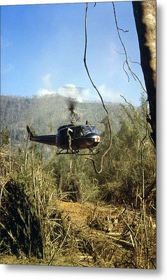 Vietnam War, South Vietnam, A Uh-1d Metal Print by Everett