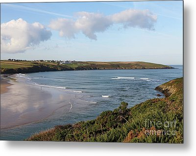 Metal Print featuring the photograph View Across The Gannel Estuary by Nicholas Burningham