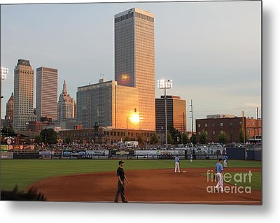 View From 3rd Base Metal Print