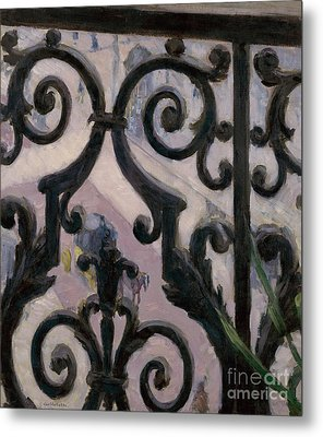 View From A Balcony, 1880 Metal Print by Gustave Caillebotte