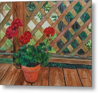 View From A Deck Metal Print by Lynne Reichhart